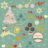 Set of Christmas and holiday ornaments Royalty Free Stock Photography