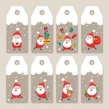 Set of  Christmas holiday tags Royalty Free Stock Photos