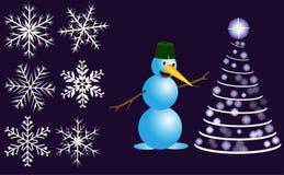 Set for Christmas holidays Stock Image