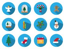 A set of 12 christmas icon set. Christmas Day Icons Can be used in the advertising business to use. A set of 12 christmas icon set Stock Photography