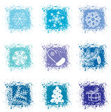 Set christmas icons Royalty Free Stock Images