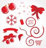 Set of christmas icons. And symbols stock illustration