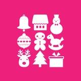 Set of christmas icons Stock Photography