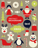 Set of Christmas icons Royalty Free Stock Photo