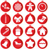 Set of christmas icons Stock Photos