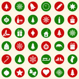 Set of christmas icons on color background,  illustration. Set of christmas icons on color background Stock Photo
