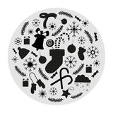 Set of Christmas icons for decorations stock illustration