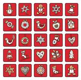 Set of Christmas icons. Of dingerbreads. Vector illustration for your website Stock Photo