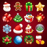 Set of Christmas Icons Stock Photo