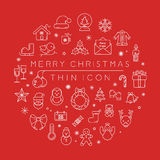 Set of christmas icons. Eps10  format Royalty Free Stock Photography