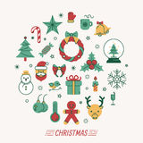 Set of christmas icons. Eps10 vector format Stock Photography