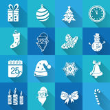 Set of Christmas icons Stock Photo