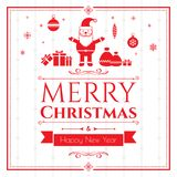 Set of christmas icons on green background Stock Photo