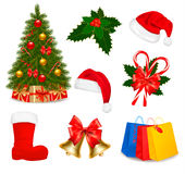 Set of Christmas icons. Vector Royalty Free Stock Photo