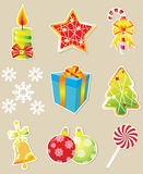 Set of Christmas icons Stock Photography