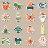 Set of christmas icons vector Royalty Free Stock Photos