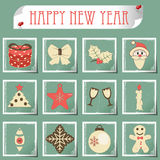 Set of christmas icons vector Stock Photo