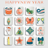 Set of christmas icons vector. Set of christmas icons. This is file of EPS10 format Stock Images