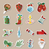 Set of christmas icons vector Stock Photos