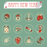Set of christmas icons vector Stock Image