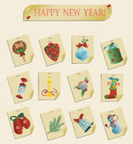 Set of christmas icons vector Royalty Free Stock Images