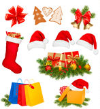 Set of Christmas icons. Vector illustration. Stock Photography