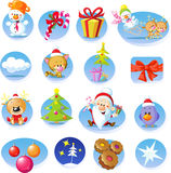 Set of Christmas icons - Vector Stock Photo