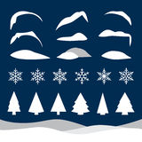 Set of christmas illustrations Stock Images