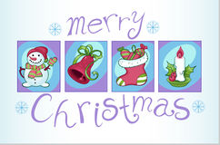 Set of Christmas images Royalty Free Stock Photo