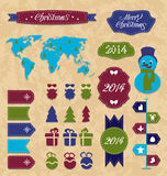 Set Christmas Infographic design elements, group l Stock Photography