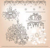 Set of Christmas items Stock Photography