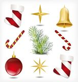 Set of Christmas items. Vector Royalty Free Stock Images
