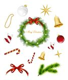 Set of Christmas items. Vector Royalty Free Stock Image