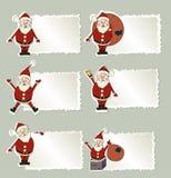 Set of christmas label Santa Claus Stock Image