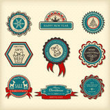 Set of Christmas labels Stock Image