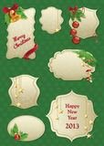 Set of christmas labels Royalty Free Stock Photography