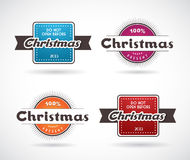 Set of Christmas labels. Stock Image