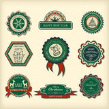 Set of Christmas labels Royalty Free Stock Photo