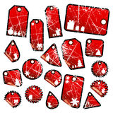 Set of christmas labels Stock Images