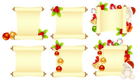 Set christmas letters Stock Images