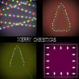 Set of Christmas lights. Vector EPS10 Royalty Free Stock Image