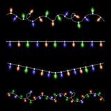 Set Christmas luminous garland. Vector. Illustration Stock Photos