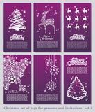 Set of Christmas minimal simple tags Stock Photos