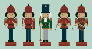 Set of christmas musician nutcrackers Royalty Free Stock Photography