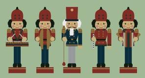 Set of christmas musician nutcrackers Royalty Free Stock Photo