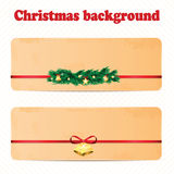A set of Christmas and New Year background with Christmas decora Royalty Free Stock Photos