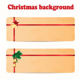 A set of Christmas and New Year background with Christmas decora Stock Images