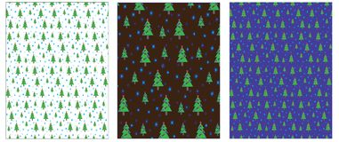 Set of Christmas New year background, wrapping paper, vector. Royalty Free Stock Image