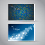 Set of  christmas / New Year banners. (cards) 2012 - blue version Stock Photography