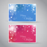 Set of  christmas / New Year banners. 2012 (blue and purple Stock Photography